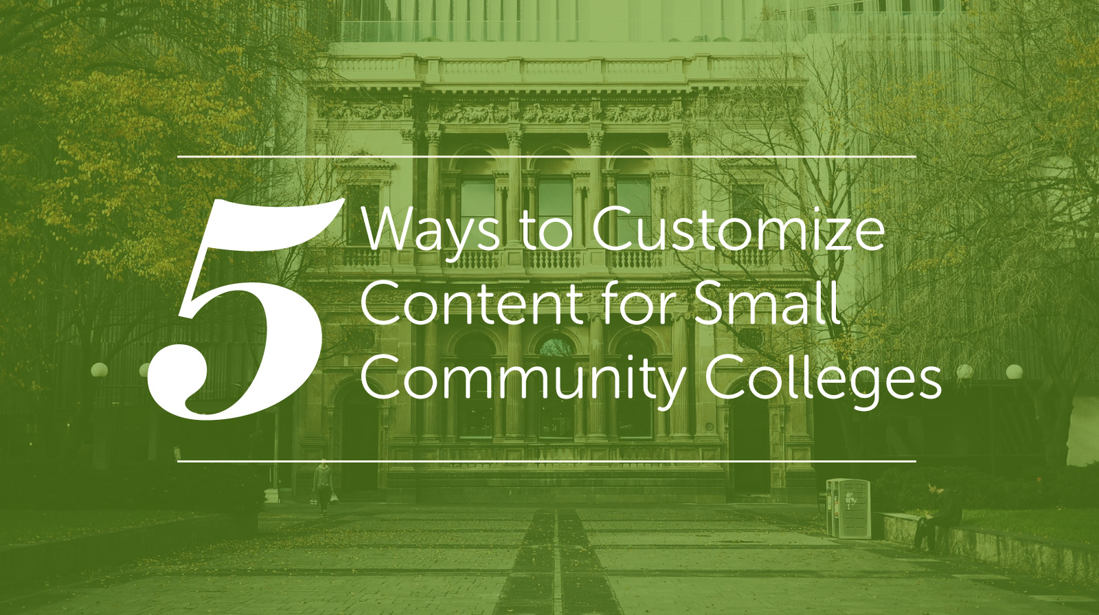 customize content for small community colleges