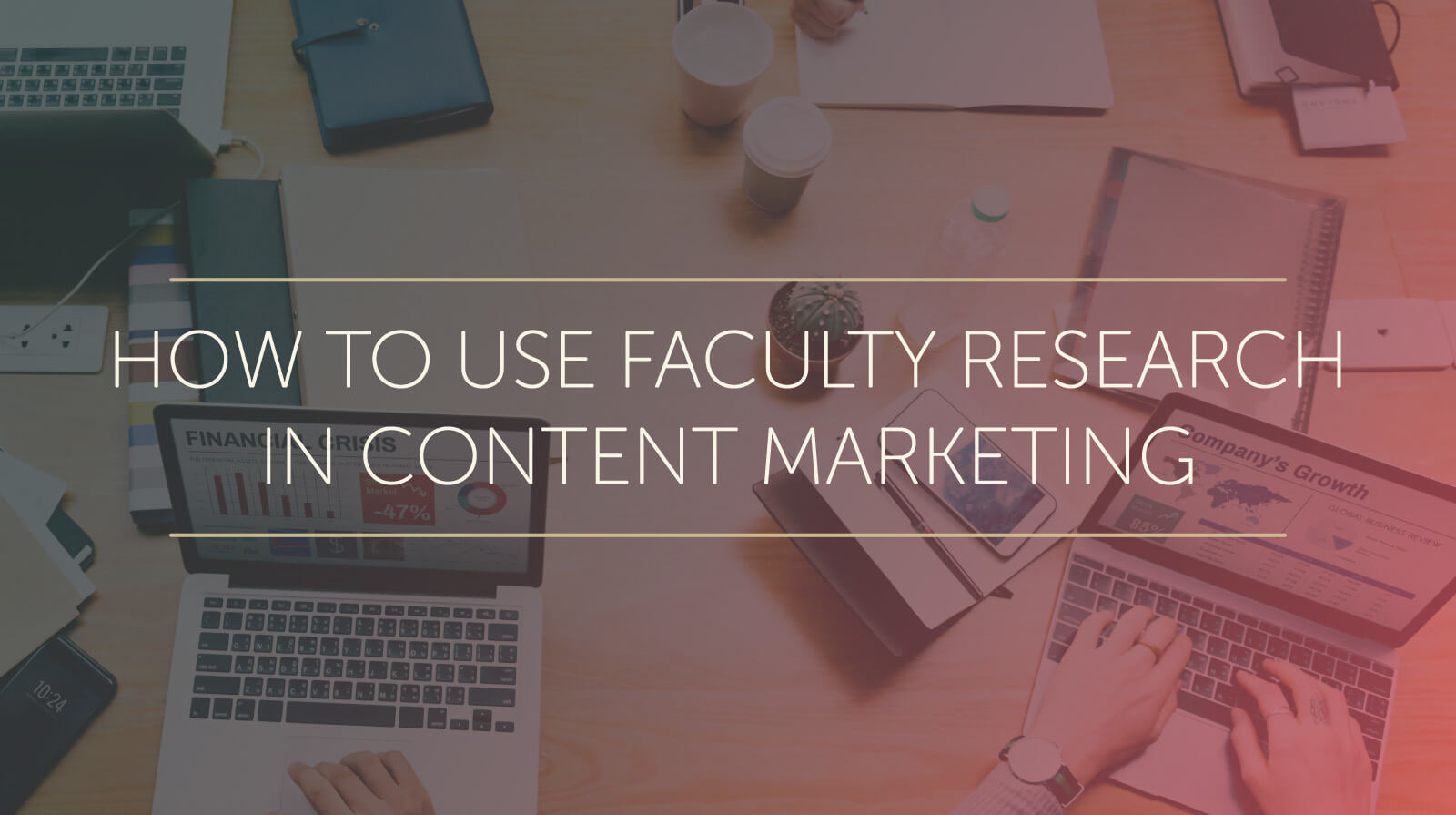 how to use faculty research in content marketing
