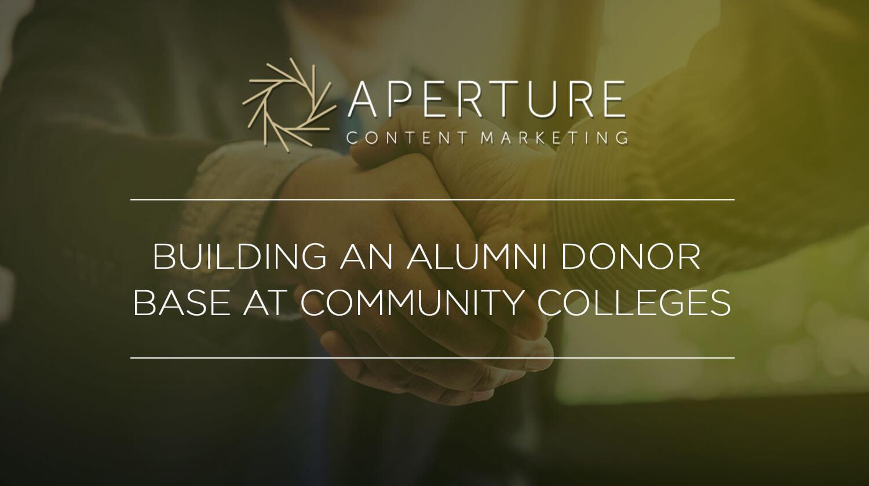 alumni donor base at community college
