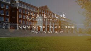 Picture of a school for an academic marketing article titled enhancing your institutional image in a hurry