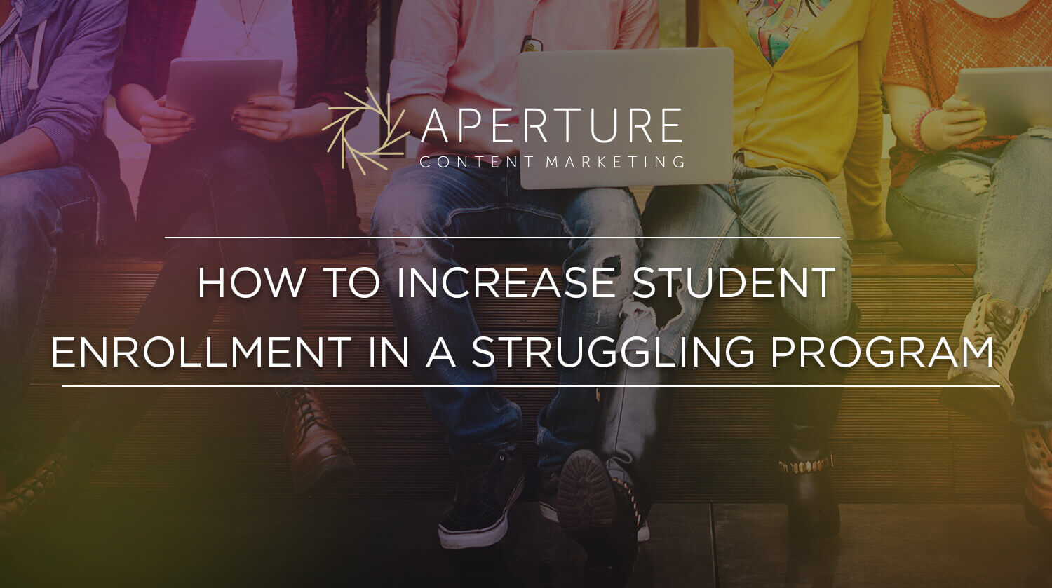 How to Increase Student Enrollment in a Struggling Program