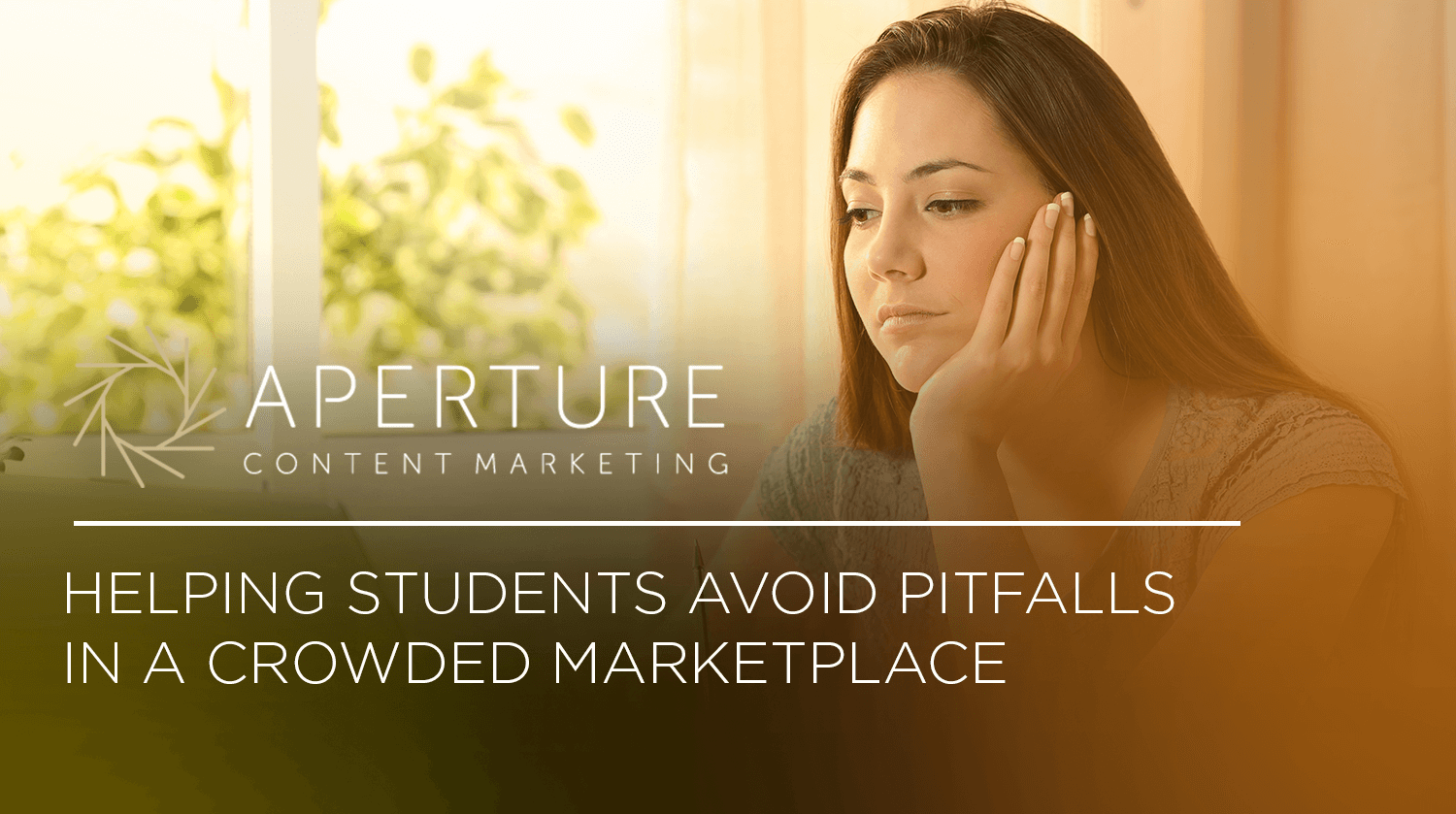 Helping Students Avoid Pitfalls in a Crowded Marketplace