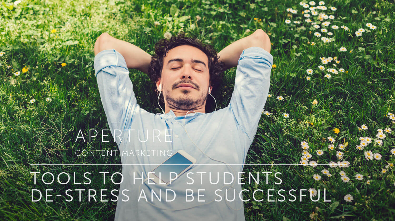 help students de-stress