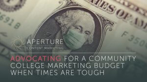 community college marketing budget